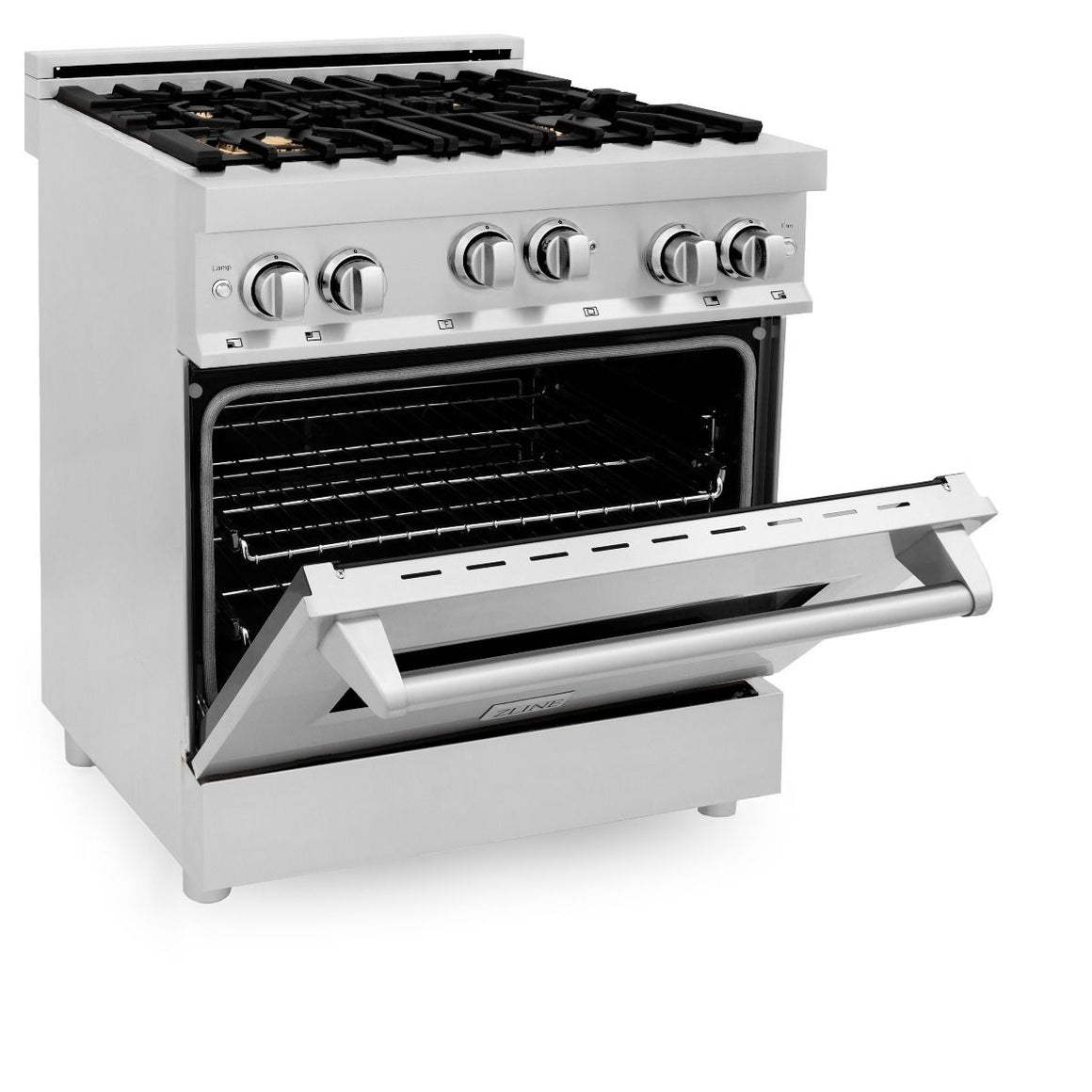 "ZLINE 30"" Gas On Gas Range, Stainless Steel, Brass Burners, RG-BR-30"