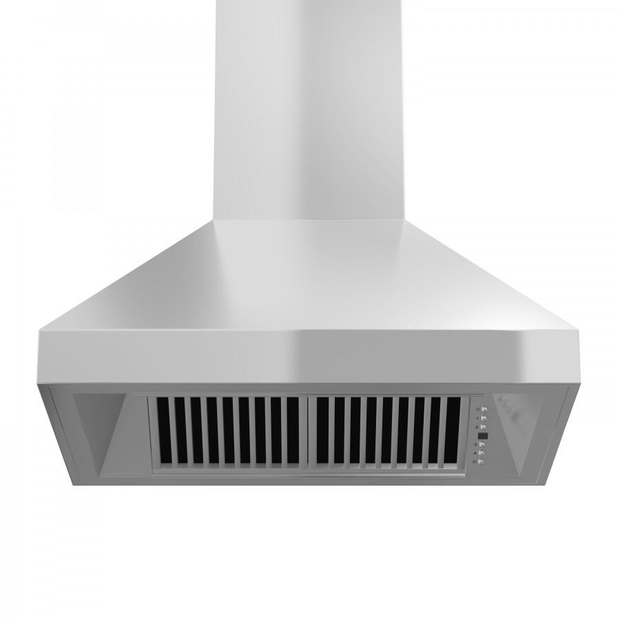 "ZLINE 30"" Stainless Steel Wall Range Hood, 597-30 - Farmhouse Kitchen and Bath"