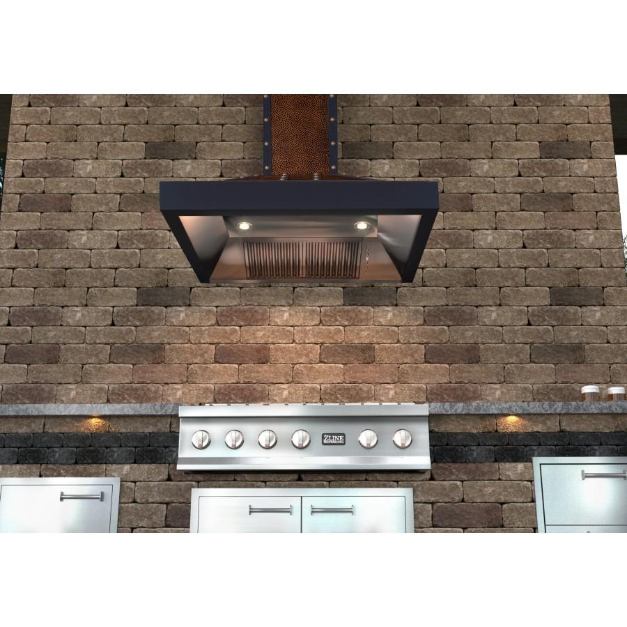 "ZLINE 30"" Hand-Hammered Copper Finish Wall Range Hood, 655-HBBBB-30 - Farmhouse Kitchen and Bath"