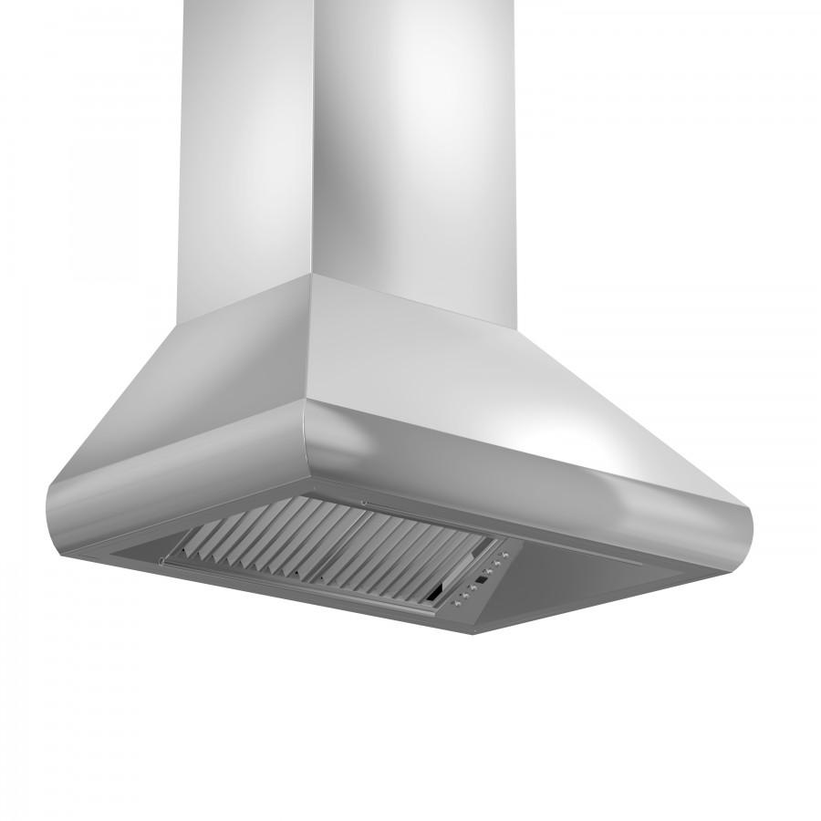 "ZLINE 48"" Stainless Steel Professional Wall Range Hood 687-48 - Farmhouse Kitchen and Bath"