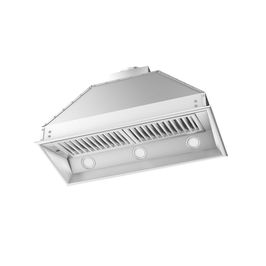 "ZLINE 40"" Stainless Steel Under Cabinet Range Hood Insert, 698-40 - Farmhouse Kitchen and Bath"