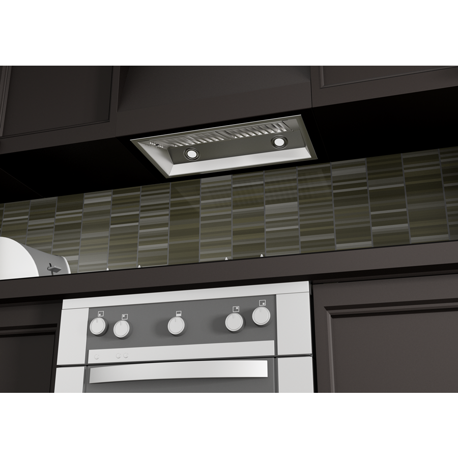 "ZLINE 28"" Stainless Steel Under Cabinet Range Hood Insert, 695-28 - Farmhouse Kitchen and Bath"