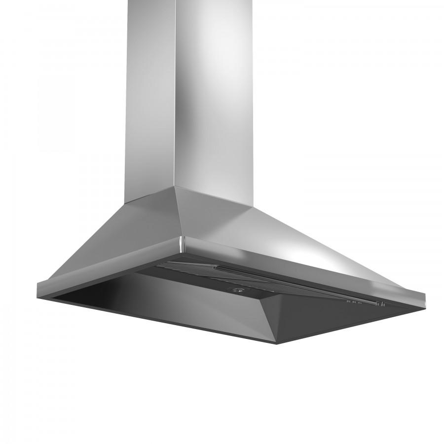 "ZLINE 36"" Remote Dual Blower Stainless Wall Range Hood, 696-RD-36 - Farmhouse Kitchen and Bath"