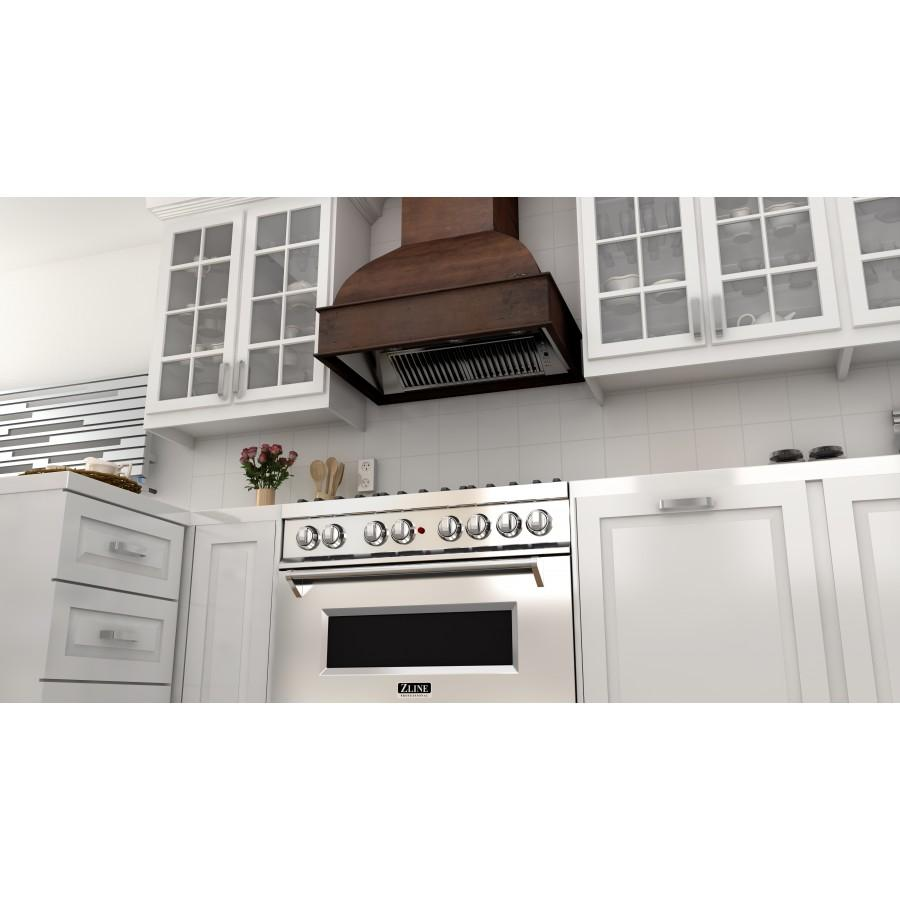 "ZLINE 30"" Wooden Wall Range Hood, Remote Motor, 369WH-RS-30-400 - Farmhouse Kitchen and Bath"
