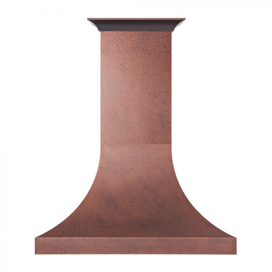 "ZLINE 48"" Hand-Hammered Copper Finish Wall Range Hood, 8632H-48 - Farmhouse Kitchen and Bath"
