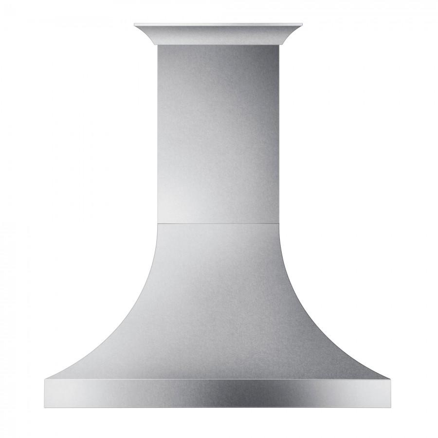 "ZLINE 42"" Designer Snow Stainless Finish Wall Range Hood, 8632S-42 - Farmhouse Kitchen and Bath"