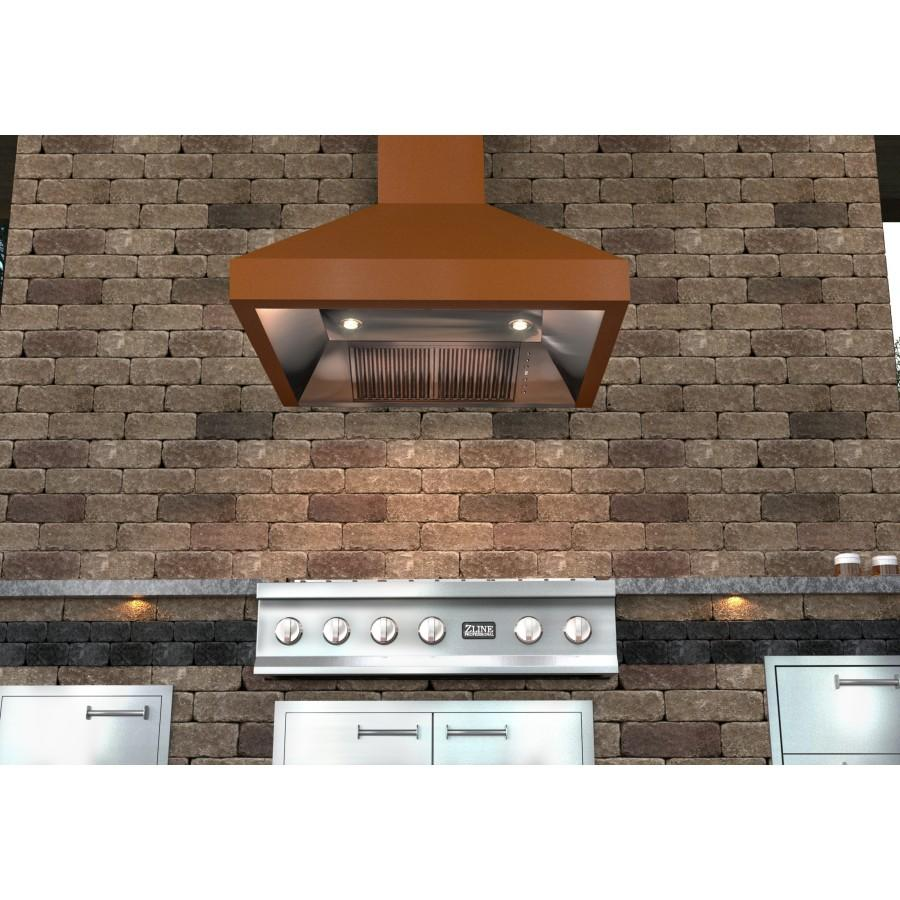 "ZLINE 30"" Copper Wall Range Hood, 8667C-30 - Farmhouse Kitchen and Bath"