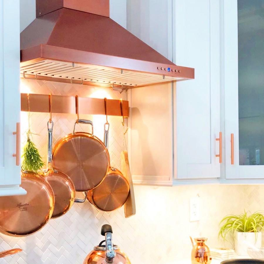 "ZLINE 30"" Copper Wall Range Hood 8KBC-30 - Farmhouse Kitchen and Bath"