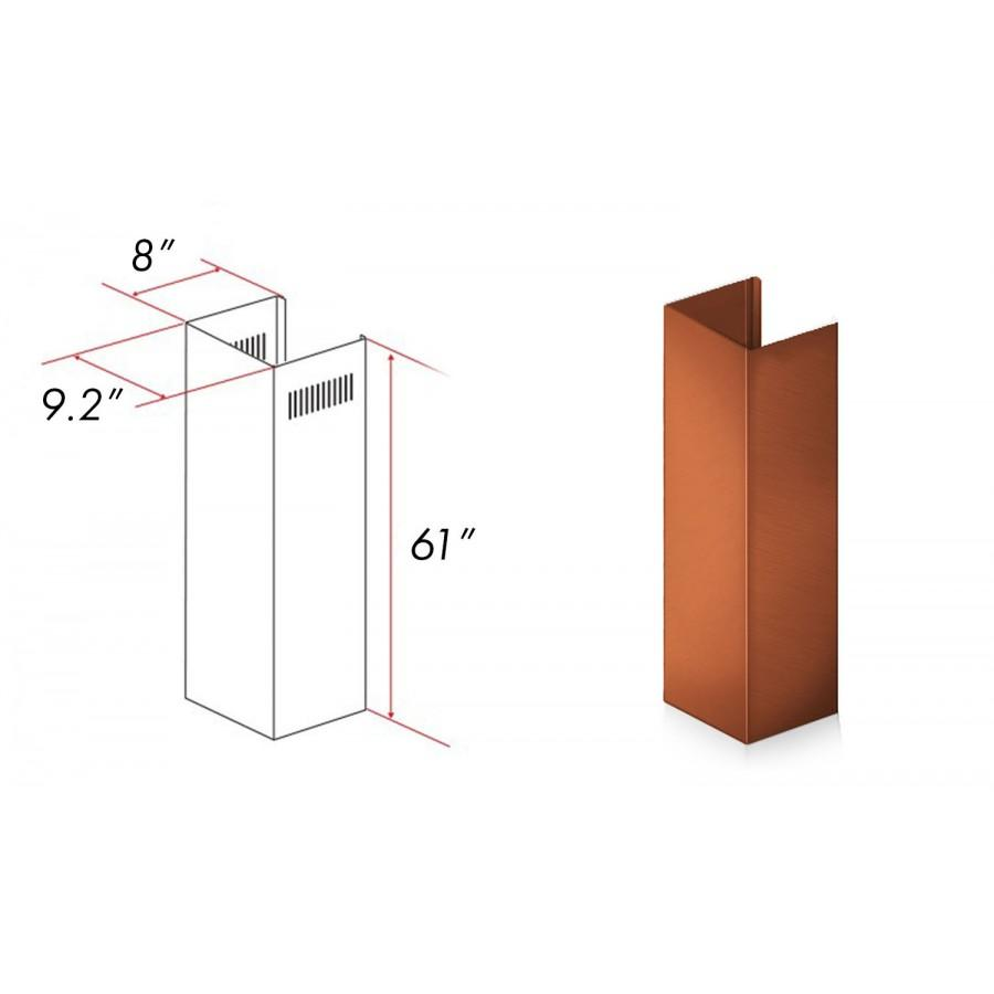 ZLINE 5 ft. Chimney Extension for Ceilings up to 12.5 ft. 8KBC-E