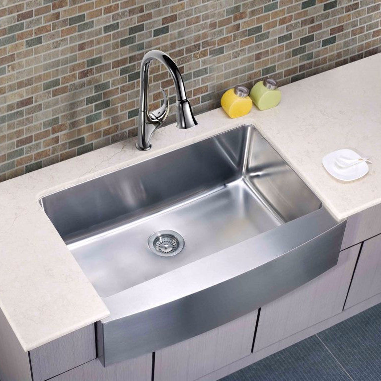 Dawn Stainless Undermount Farmhouse Apron Front Sink DAF3320C - Farmhouse Kitchen and Bath