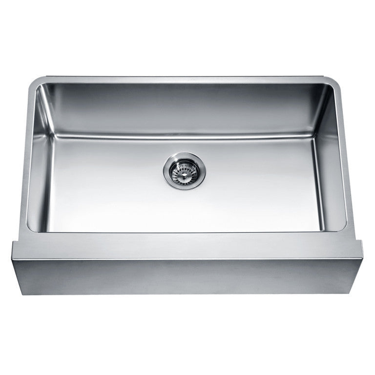 Dawn Stainless undermount Flat Apron Farmhouse kitchen sink DAF3320 - Farmhouse Kitchen and Bath