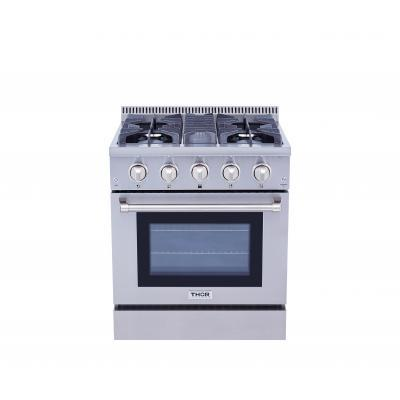 "THOR Professional 30"" Dual Fuel Range in Stainless Steel, HRD3088U - Farmhouse Kitchen and Bath"