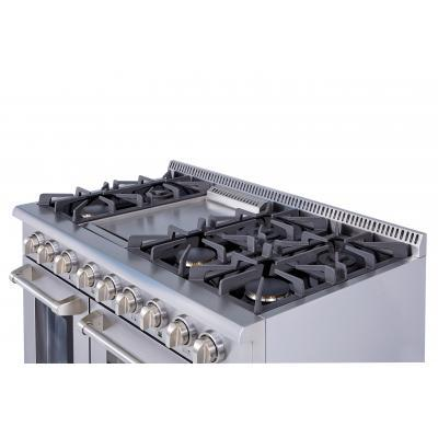 THOR 48″- 6 Burner Stainless Steel Professional Gas Range, HRG4808U - Farmhouse Kitchen and Bath