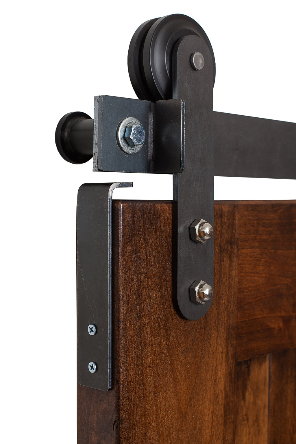 Rustic Hardware Sliding Z Barn Door Stain Clear Coat With Hardware