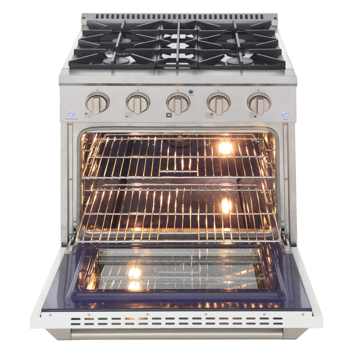 "Kucht 30"" Gas Range in Stainless Steel with White Oven Door, KNG301U-W"