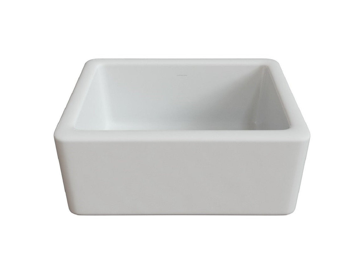 Latoscana 24″Reversible Fireclay Sink Model LNR2418W - Farmhouse Kitchen and Bath