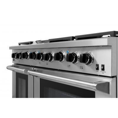 "Thor 48"" Professional Propane Range in Stainless Steel, LRG4807ULP - Farmhouse Kitchen and Bath"