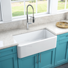 Latoscana 33″ Reversible Fireclay Sink Model LFS3318W - Farmhouse Kitchen and Bath