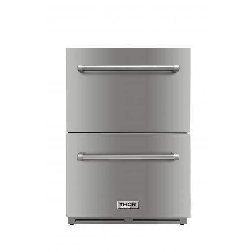 "THOR 24"" Indoor Outdoor Under-counter Refrigerator Drawer, TRF2401U - Farmhouse Kitchen and Bath"