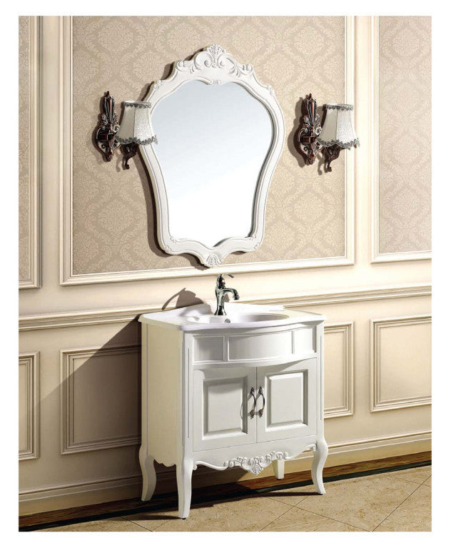 "Dawn 31"" Traditional Vanity Set with Single Ceramic Sink UN391088-01 - Farmhouse Kitchen and Bath"