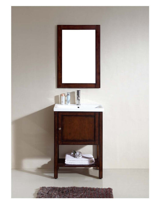 "Dawn 23"" American Vanity with Single Ceramic Sink Top UN98036-04 - Farmhouse Kitchen and Bath"