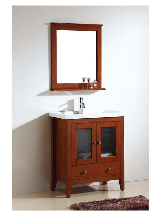 "Dawn 26"" American Vanity Cabinet with Single Ceramic Sink Top UN9804-04 - Farmhouse Kitchen and Bath"