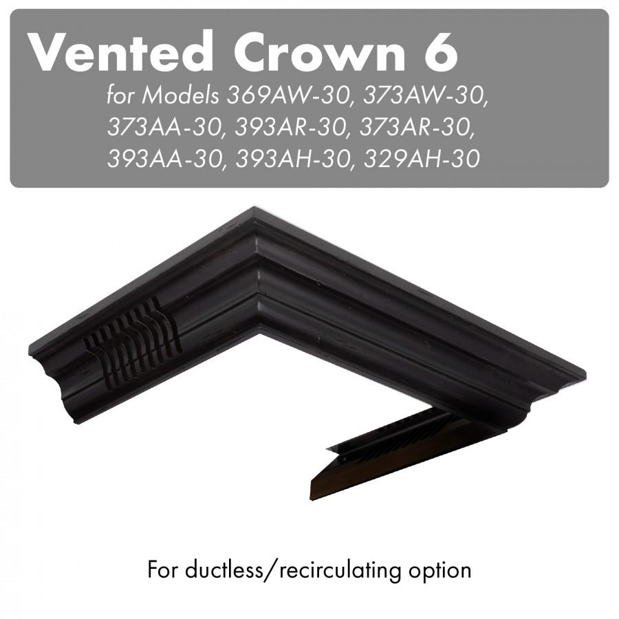 ZLINE Vented Crown Molding for Wall Mount Range Hood, CM6V-300A - Farmhouse Kitchen and Bath