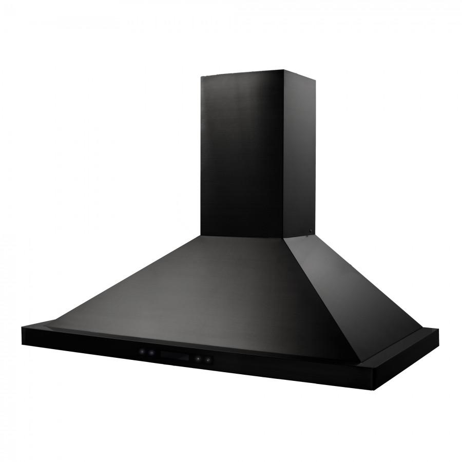 "ZLINE 42"" Wall Range Hood in Black Stainless Steel, BSKBN-42 - Farmhouse Kitchen and Bath"