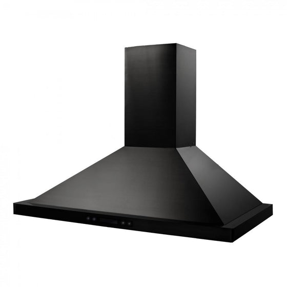"ZLINE 36"" 760 CFM Wall Range Hood in Black Stainless Steel, BSKB-36 - Farmhouse Kitchen and Bath"