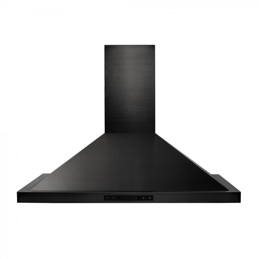 "ZLINE 48"" Wall Range Hood in Black Stainless Steel, BSKBN-48 - Farmhouse Kitchen and Bath"