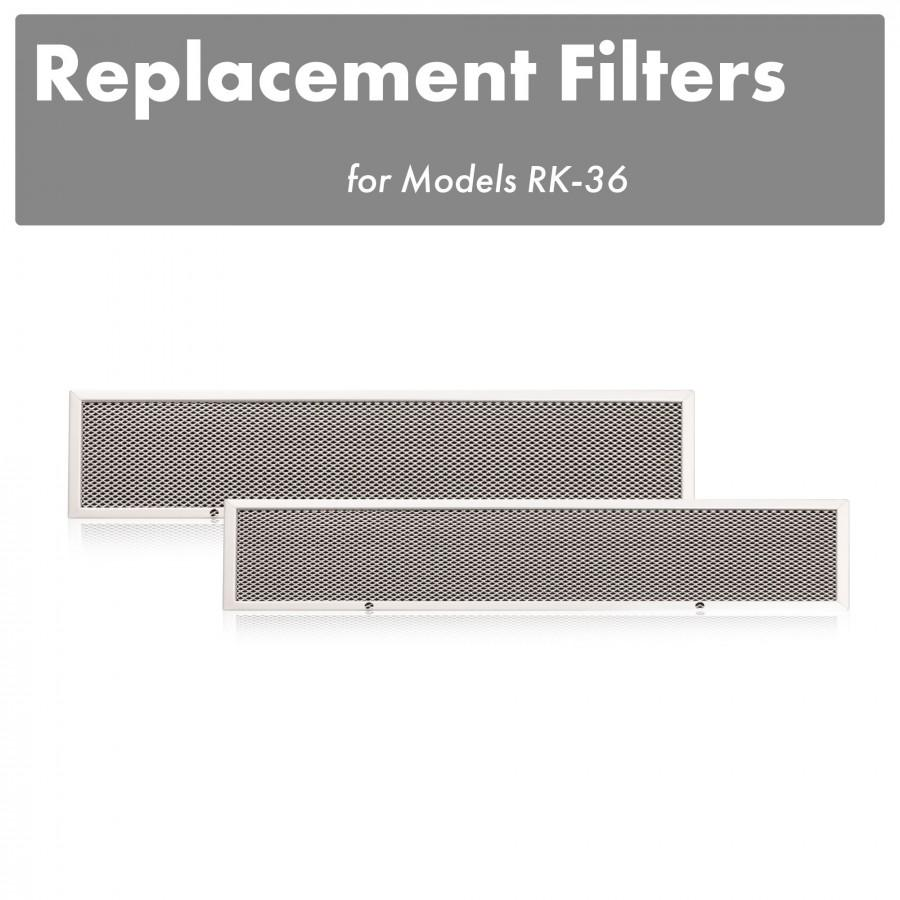 "ZLINE Charcoal Filters (Set of 2) for 36"" Under Cabinet Range Hoods, CF-RK-36 - Farmhouse Kitchen and Bath"