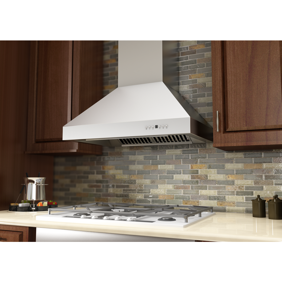 "ZLINE 30"" Stainless Steel Wall Range Hood, 667-30 - Farmhouse Kitchen and Bath"