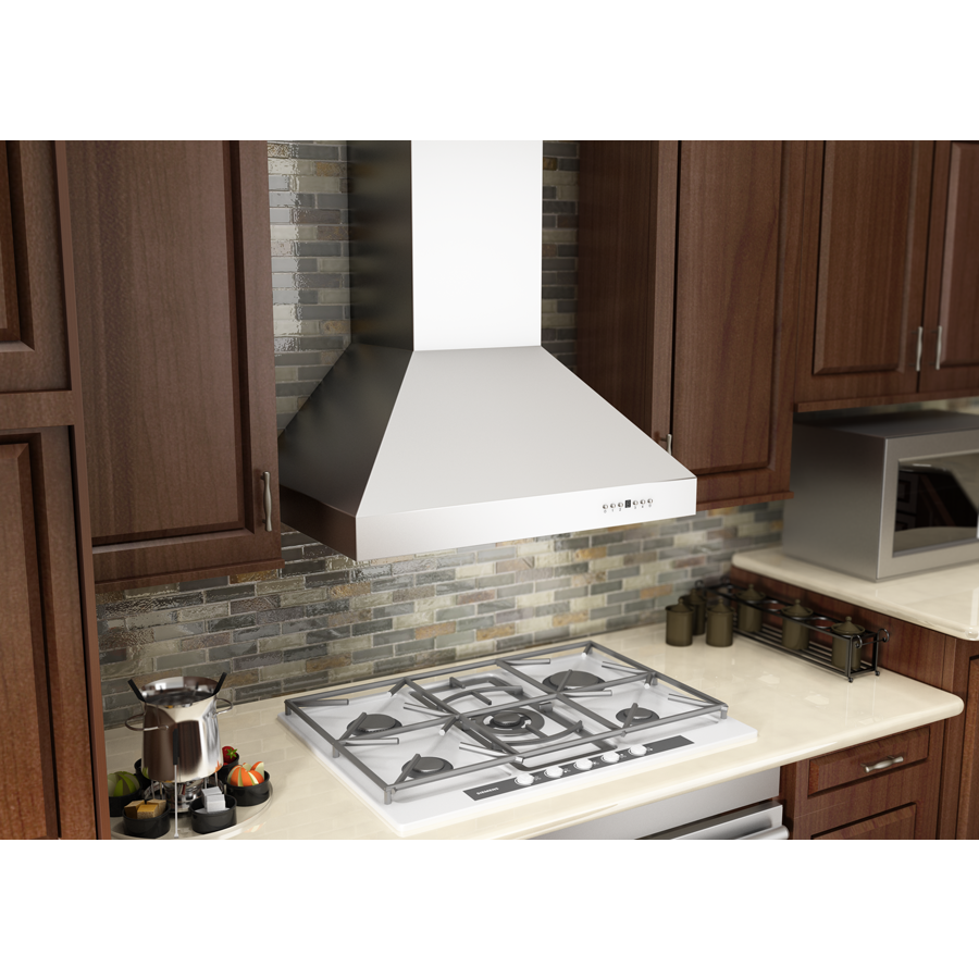 "ZLINE 36"" Stainless Steel Wall Range Hood, 697-36 - Farmhouse Kitchen and Bath"