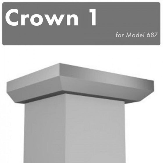 ZLINE Crown Molding #1 for Wall Range Hood 687, CM1-687 - Farmhouse Kitchen and Bath
