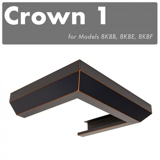 ZLINE Crown Molding #1 for Wall Range Hood, CM1-8KBB/E/F - Farmhouse Kitchen and Bath