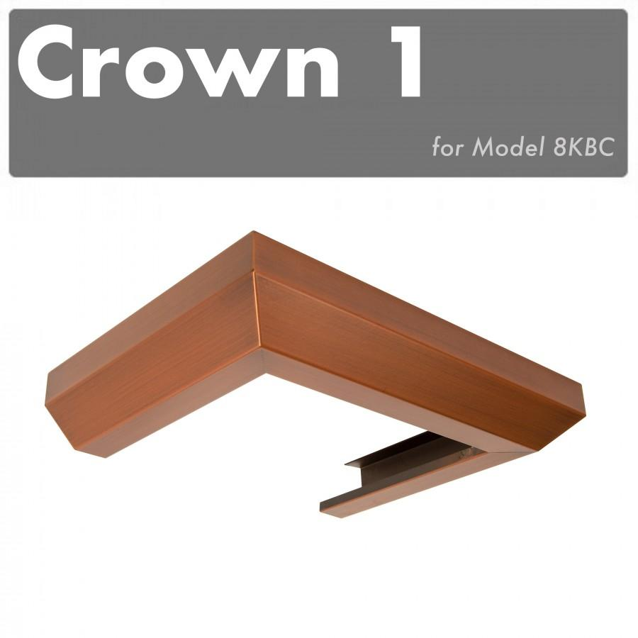 ZLINE Crown Molding #1 for Wall Range Hood, CM1-8KBC - Farmhouse Kitchen and Bath