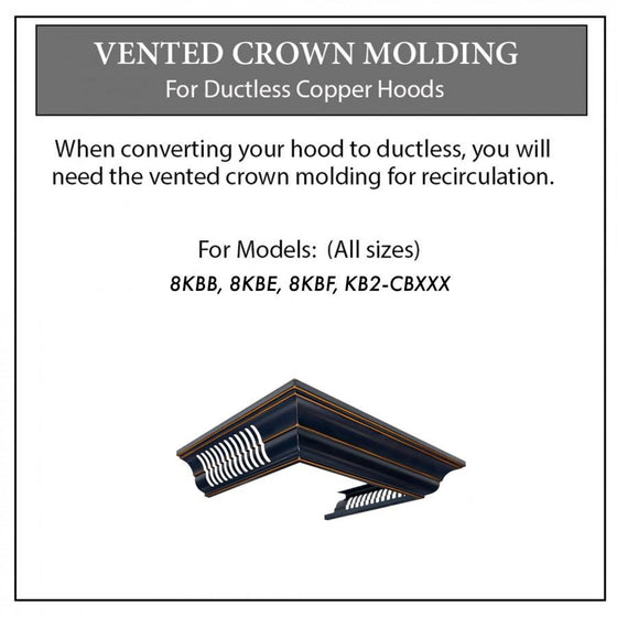 ZLINE Vented Crown Molding for Range Hoods w/Recirculating Option, CM6V-8KBB - Farmhouse Kitchen and Bath