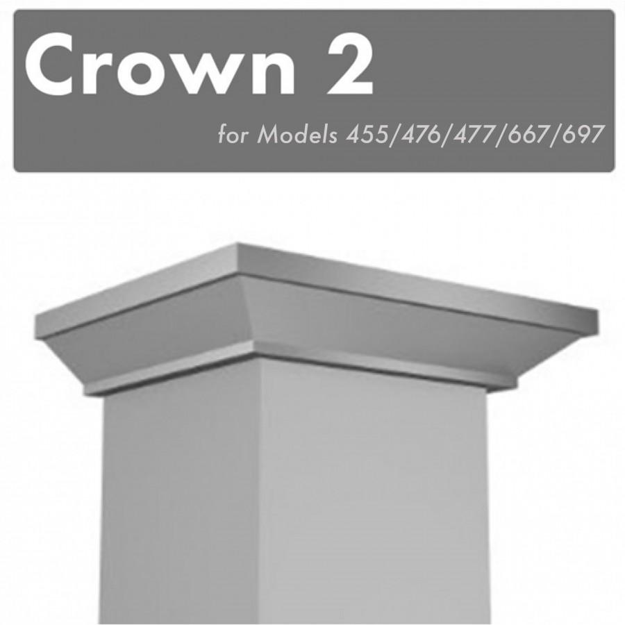 ZLINE Crown Molding #2 for Wall Range Hood, CM2-455/476/477/667/697 - Farmhouse Kitchen and Bath