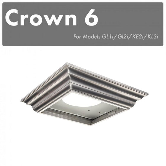ZLINE Crown Molding for Wall Mount Range Hoods, CM6-GL1i/GL2i/KE2i/KL3i - Farmhouse Kitchen and Bath