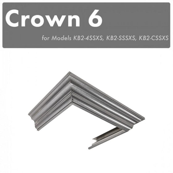 ZLINE Crown Molding #6 for Designer Wall Range Hood, CM6-KB-S304 - Farmhouse Kitchen and Bath