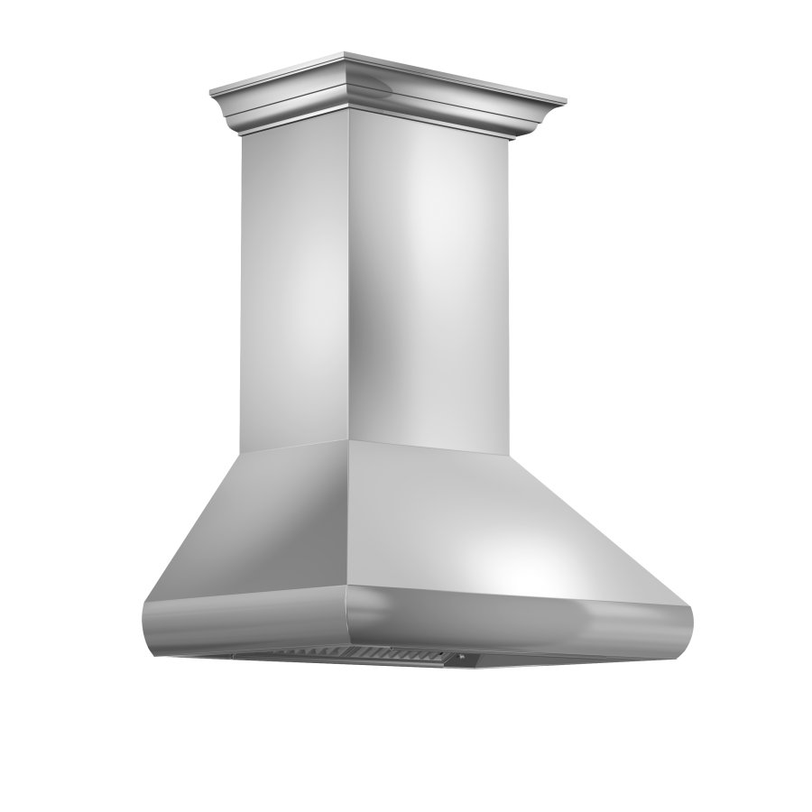"ZLINE 30"" Professional Wall Range Hood, Stainless Steel, 587CRN-30 - Farmhouse Kitchen and Bath"