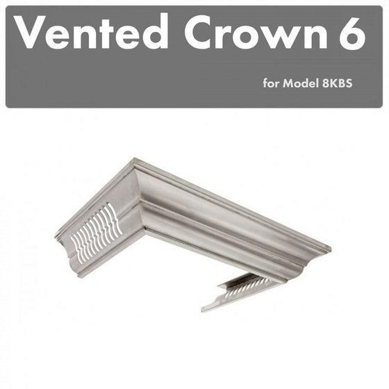 ZLINE Vented Crown Molding Profile 6 for Wall Mount Range Hood, CM6V-8KBS - Farmhouse Kitchen and Bath