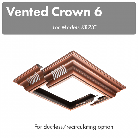ZLINE Vented Crown Molding Profile 6 for Island Range Hood, CM6V-KB2iC - Farmhouse Kitchen and Bath