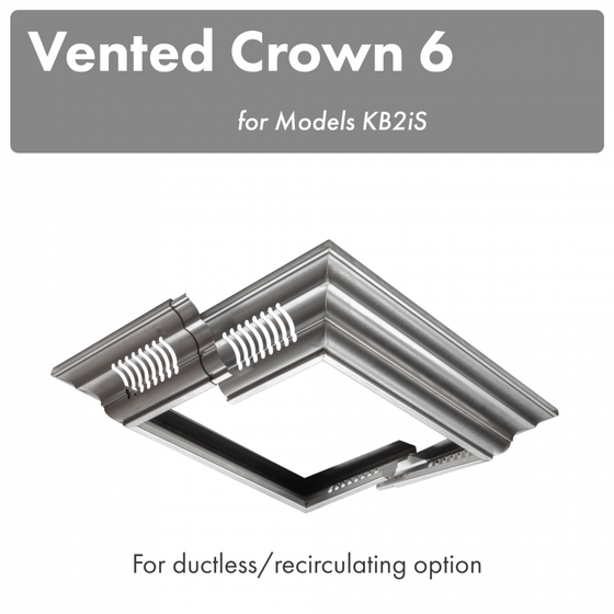 ZLINE Vented Crown Molding Profile 6 for Island Range Hood, CM6V-KB2iS - Farmhouse Kitchen and Bath