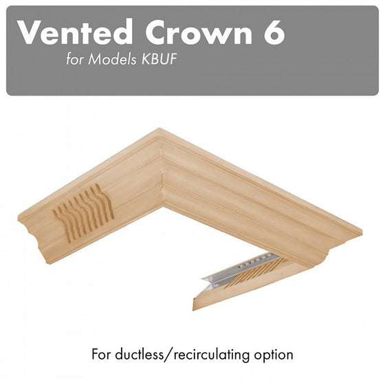 ZLINE Vented Crown Molding Profile 6 for Wall Mount Range Hood, CM6V-KBUF - Farmhouse Kitchen and Bath