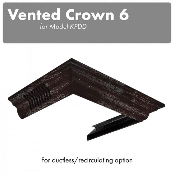 ZLINE Vented Crown Molding Profile 6 for Wall Mount Range Hood, CM6V-KPDD - Farmhouse Kitchen and Bath