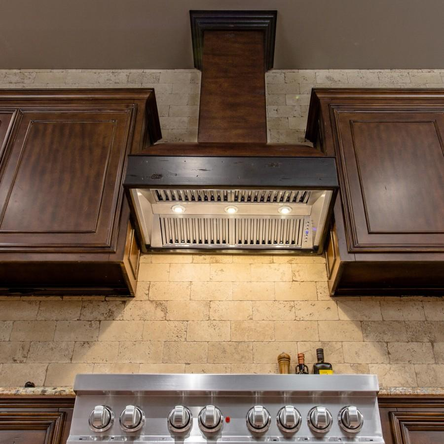 "ZLINE 36"" Wooden Wall Range Hood, Crown Molding 369AW-36 - Farmhouse Kitchen and Bath"