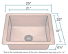 Polaris Single Bowl Copper Sink P409 - Farmhouse Kitchen and Bath
