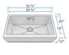 "Polaris 33"" Single Bowl Stainless Steel Farmhouse Apron Sink P504 - Farmhouse Kitchen and Bath"