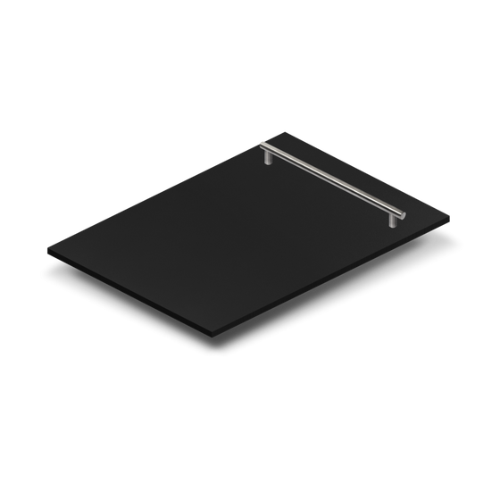 "18"" Dishwasher Panel in Black Matte with Modern Handle, DP-BLM-H-18 - Farmhouse Kitchen and Bath"